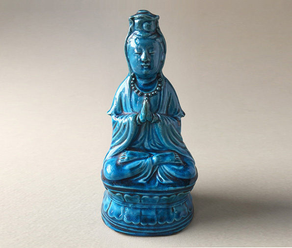 Chinese Peacock Blue Quanyin – Qing Dynasty
