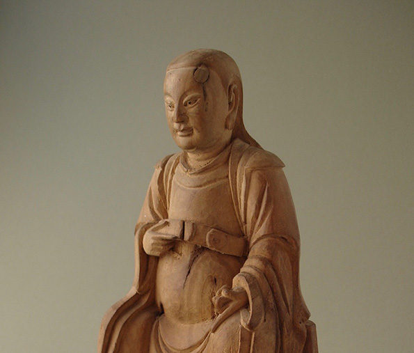 Chinese Wood Carving Of Zhien Wu – Qing Dynasty