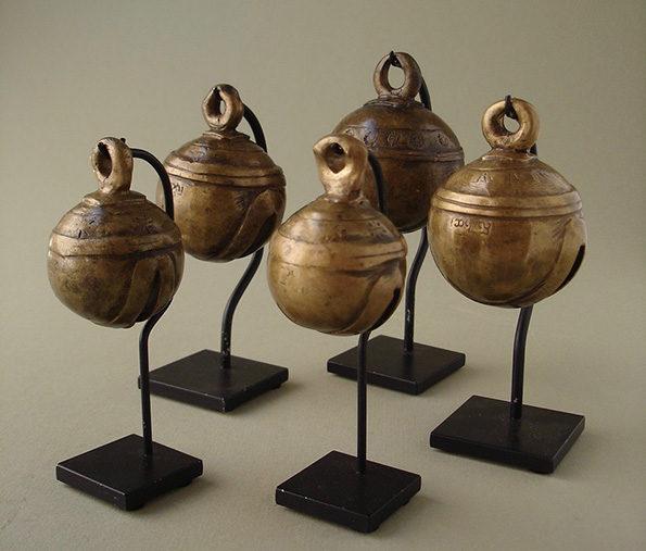 Burmese Bronze Bells (Set of 5) Set Priced At