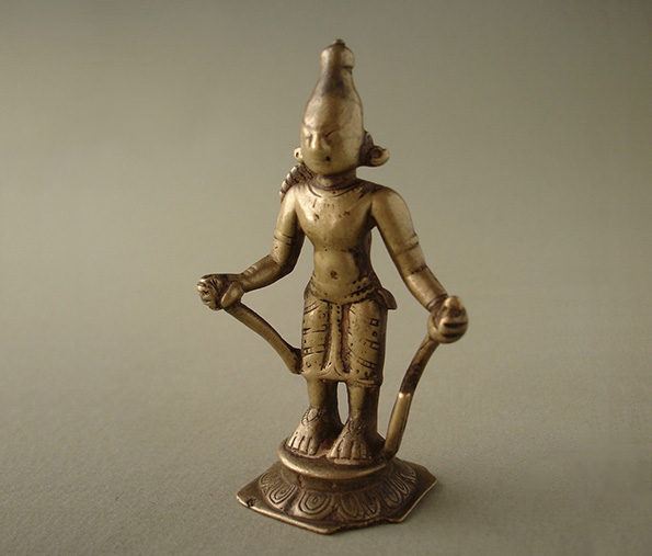 Indian Miniature Bronze of Rama