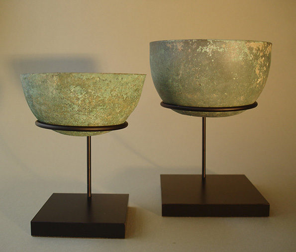 Cambodian Bronze Bowls – Khmer (set of 2) Pair Priced At