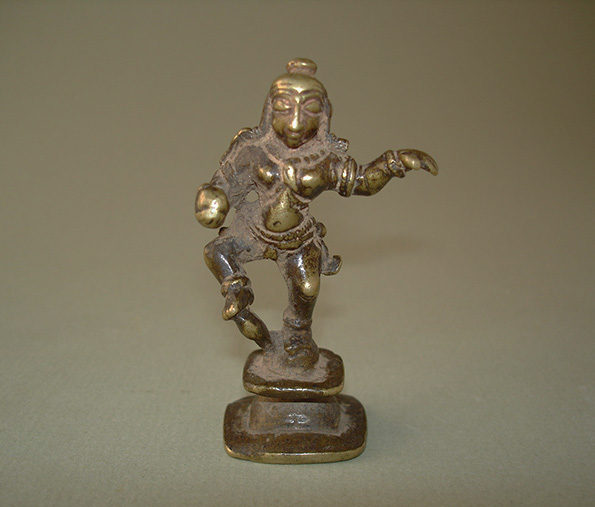 Indian Miniature Bronze of Krishna