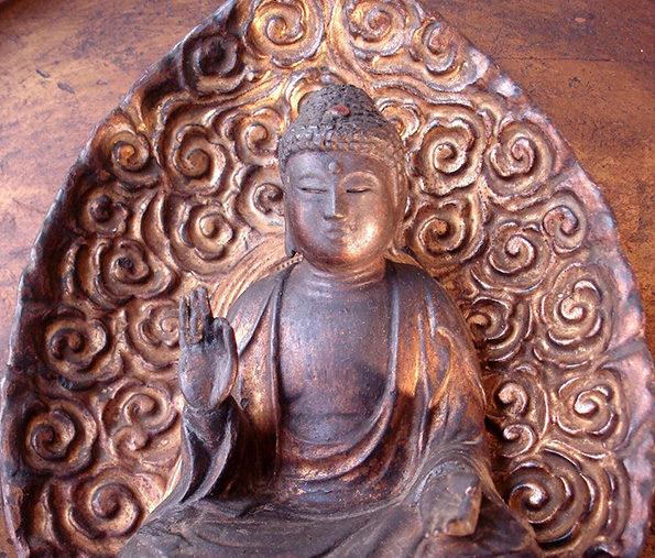Japanese Amida Triad Buddha – Edo Period