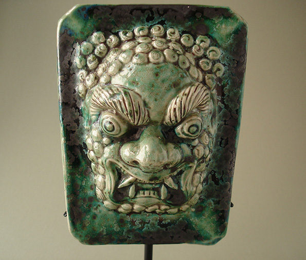 Chinese Glazed Sculptural Tile – Qing Dynasty