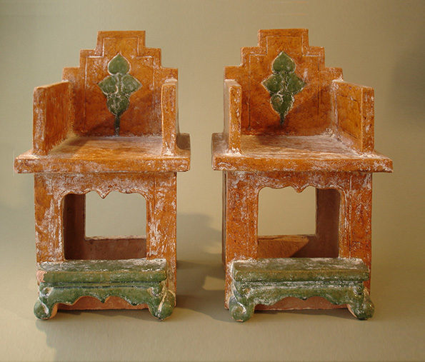 Chinese Clay Model of Armchairs – Ming Dynasty (Pair Priced At)