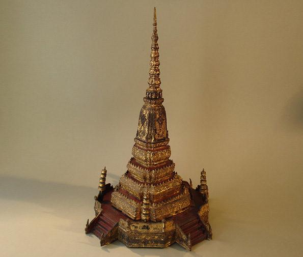 Thai Bronze Model of a Stupa – Rama V